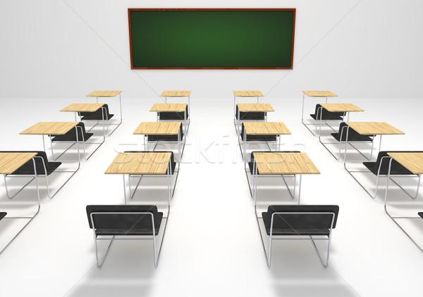 Stockfoto: Abstract · school · klas · Blackboard · onderwijs · 3D