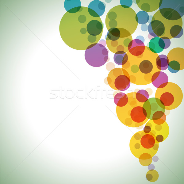 Colorful circles vector background. Stock photo © lenapix