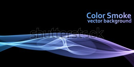 Abstract blue and violet colored vector smoke background with bl Stock photo © lenapix