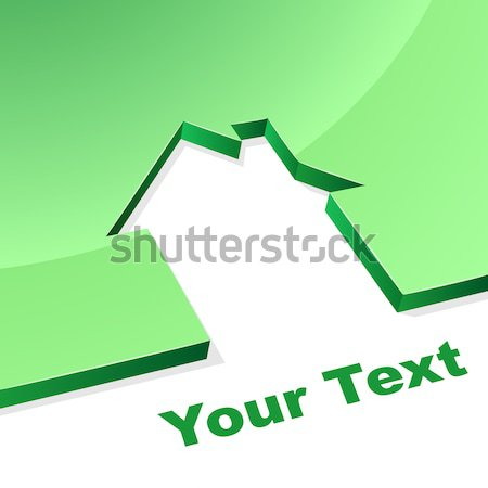 Green house 3D shape concept image with white copy space. Stock photo © lenapix