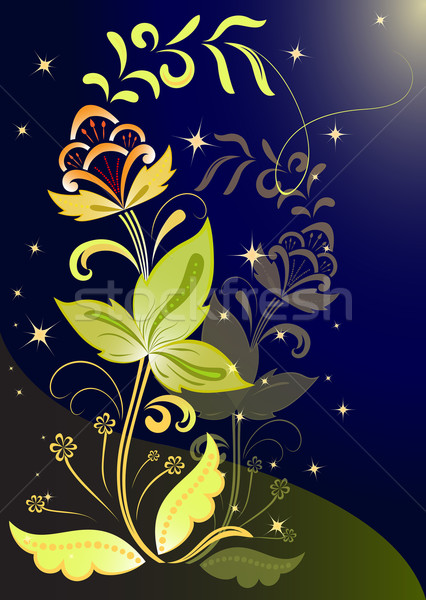 Night flower vector background. Stock photo © lenapix