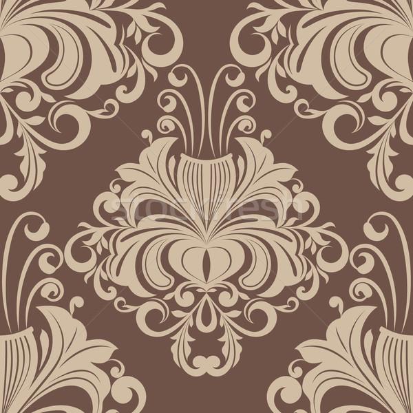 Naadloos bruin vector patroon bloem achtergrond Stockfoto © lenapix