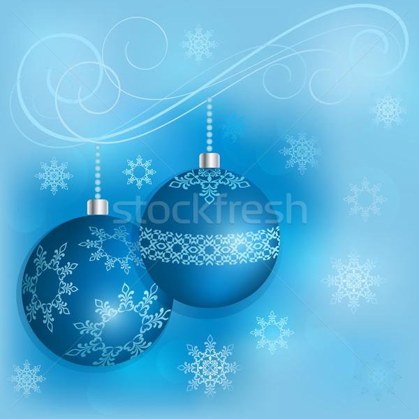 Blu Natale decorazione vettore carta Foto d'archivio © lenapix