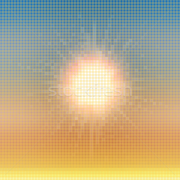 Abstract summer sun colorful mosaic vector background. Stock photo © lenapix