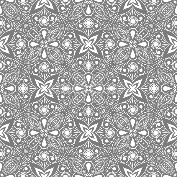 Végtelenített szürke fehér virágmintás vektor textúra Stock fotó © lenapix