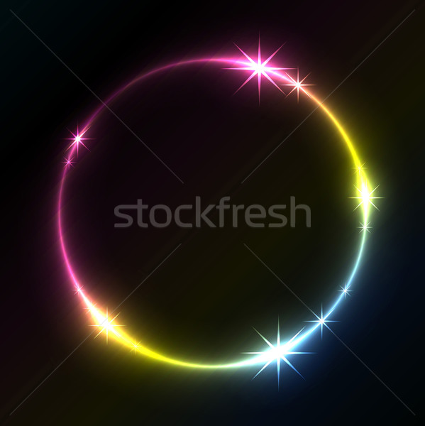 Kolorowy kółko wektora kopia przestrzeń świetle Zdjęcia stock © lenapix