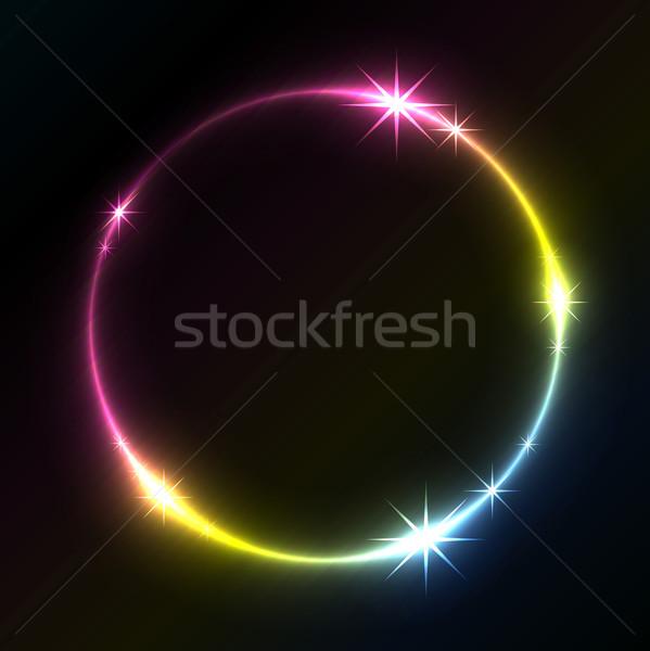 Colorido círculo vetor cópia espaço luz Foto stock © lenapix