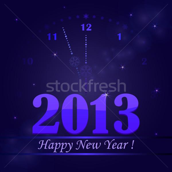Nuovo 2013 anni carta clock sfondo Foto d'archivio © lenapix