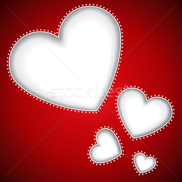 Taglio cuore forme rosso vettore copia spazio Foto d'archivio © lenapix