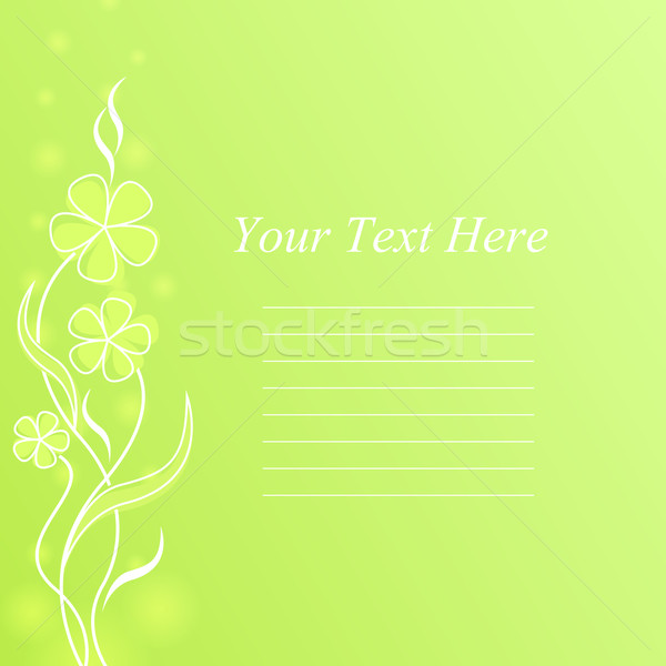 Abstract light green flower spring background with copy space. Stock photo © lenapix