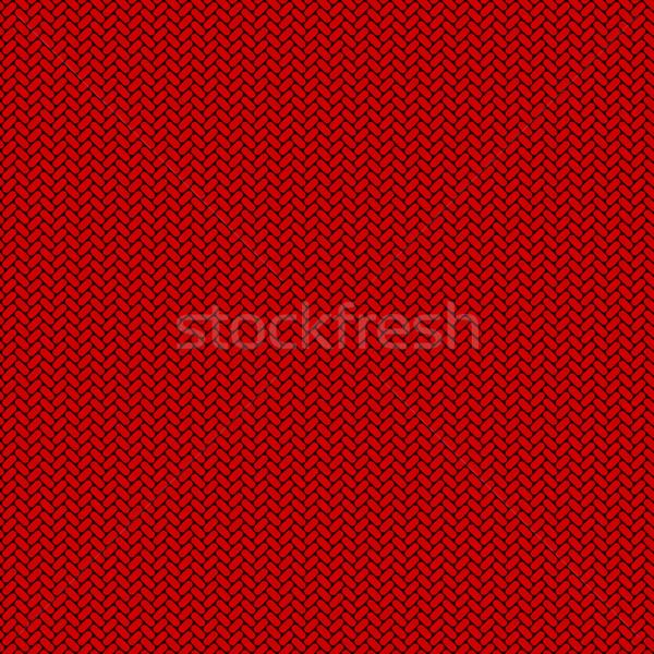 бесшовный красный трикотажный вектора текстуры моде Сток-фото © lenapix