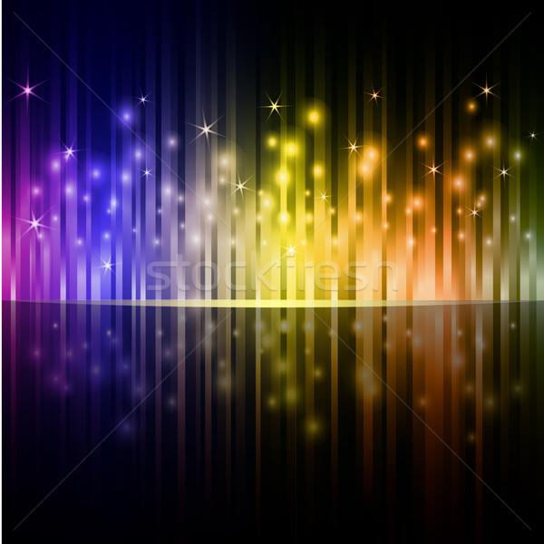 Colorful vertical stripes dark vector background. Stock photo © lenapix