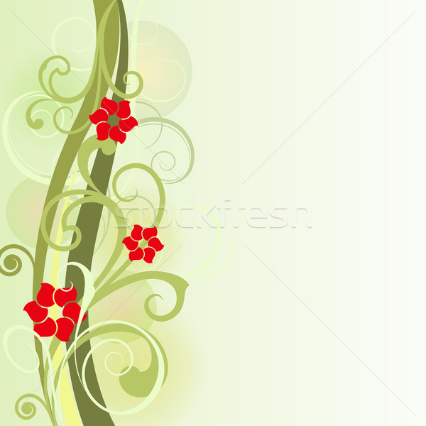 Floral spring vector card design with copy space. Stock photo © lenapix