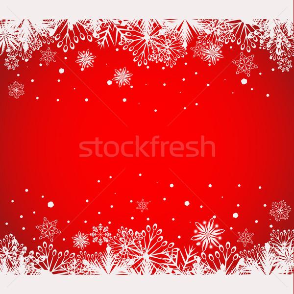 Abstract rosso Natale bianco fiocco di neve Foto d'archivio © lenapix