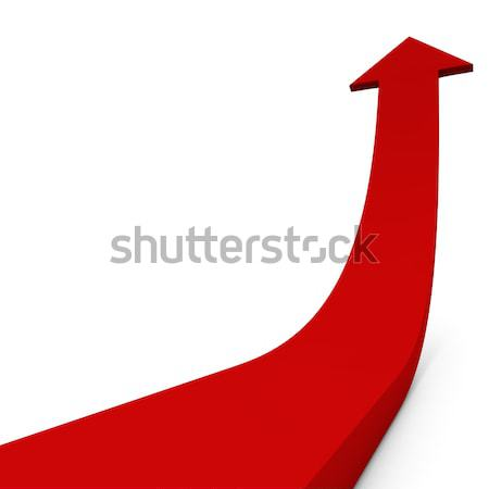Red ascending arrow concept image. Stock photo © lenapix