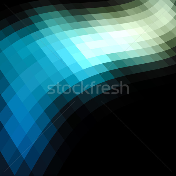 Blue and green mosaic dark vector background. Stock photo © lenapix