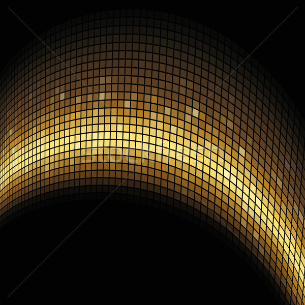 Golden arc formed mosaic vector background. Stock photo © lenapix