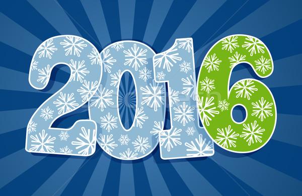 Nieuwe 2016 jaar gesneden papier vector Stockfoto © lenapix