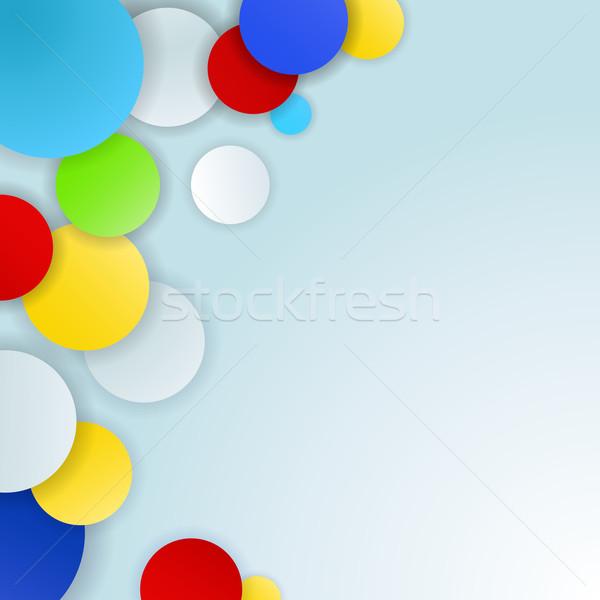 Absztrakt szín körök vektor copy space fény Stock fotó © lenapix