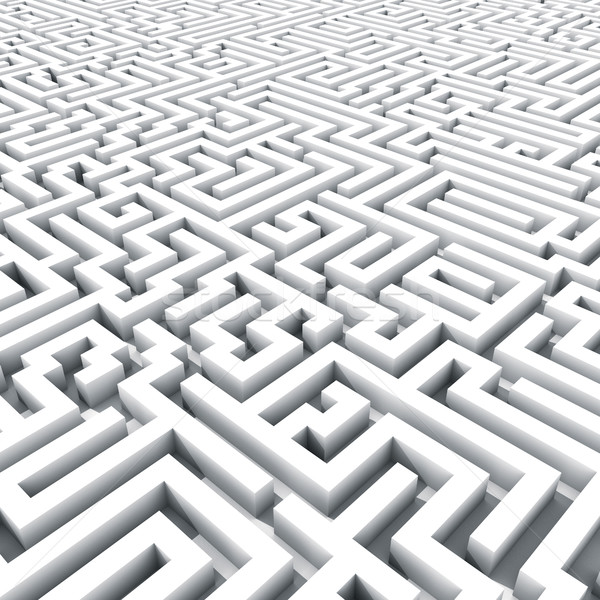 Endless large maze 3D render. Stock photo © lenapix