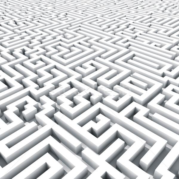 エンドレス 迷路 3dのレンダリング ビジネス 光 ストックフォト © lenapix