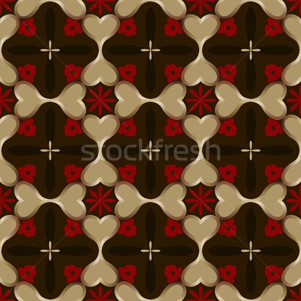 Abstract senza soluzione di continuità buio vettore wallpaper pattern Foto d'archivio © lenapix