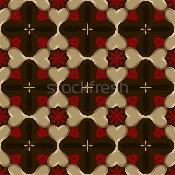 Abstract naadloos donkere vector behang patroon Stockfoto © lenapix