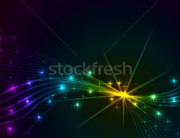 Colorful lights abstract dark vector background.  Stock photo © lenapix
