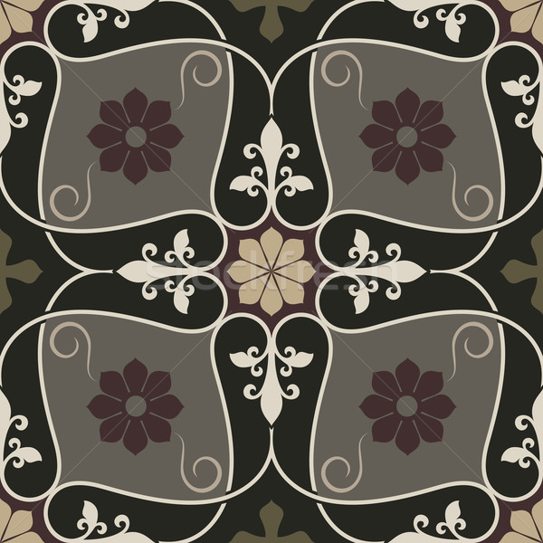 Abstract naadloos vintage bloem vector patroon ontwerp Stockfoto © lenapix
