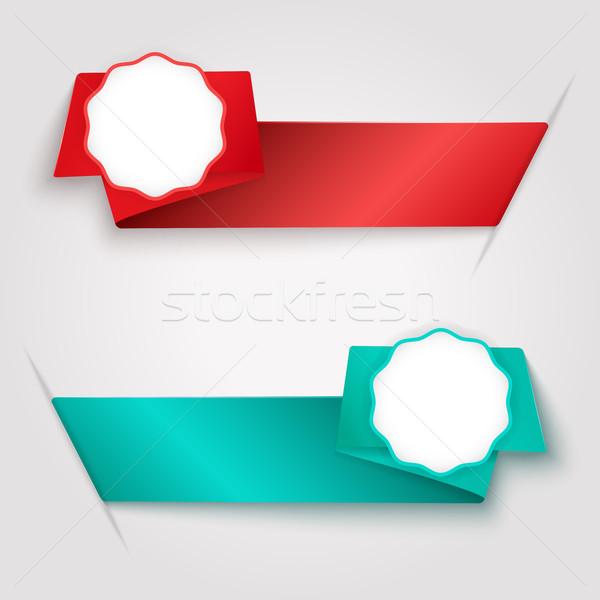 цвета лента копия пространства вектора шаблон Сток-фото © lenapix