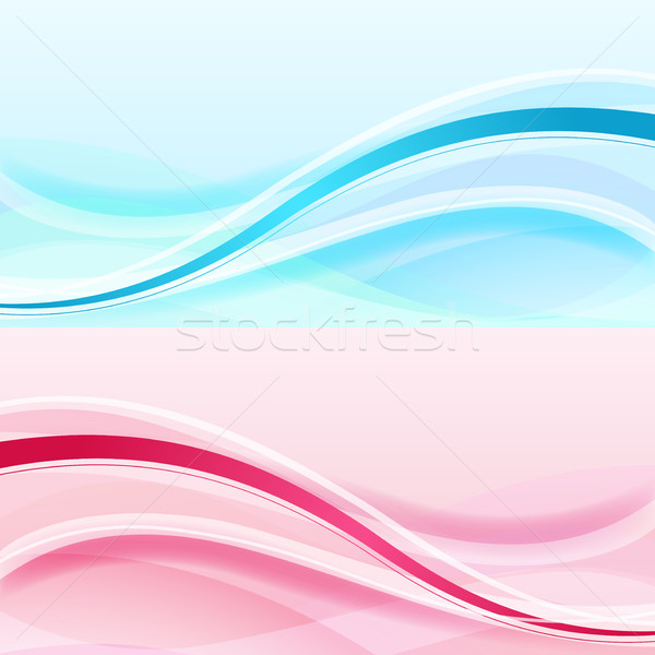 Stock photo: Abstract waves vector background
