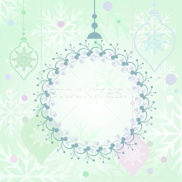 Christmas Happy Holiday greeting card vector template.  Stock photo © lenapix