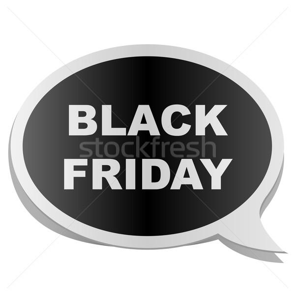 Black friday fumetto tag isolato bianco carta Foto d'archivio © lenapix