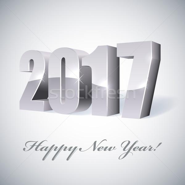 Nuovo anno lucido carta modello felice Foto d'archivio © lenapix