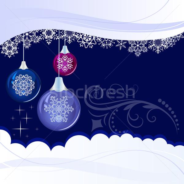 Рождества синий подвесной украшение Сток-фото © lenapix
