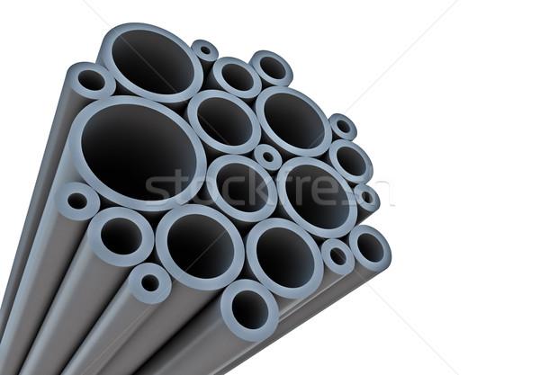 Industrial background with tubes and white copy space. Stock photo © lenapix