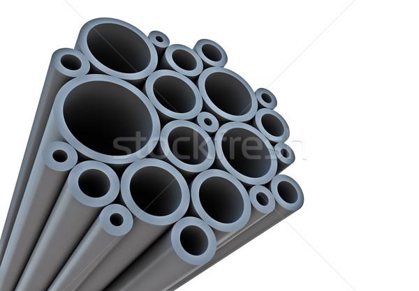 промышленных Трубы белый копия пространства фон железной Сток-фото © lenapix