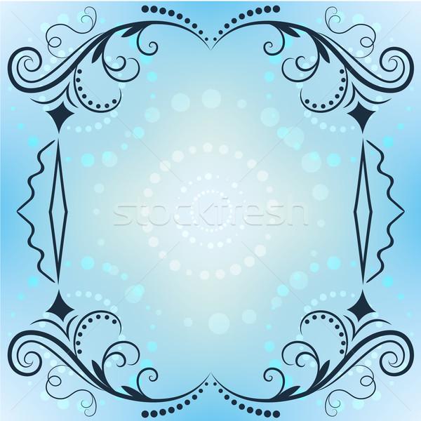 冬 ベクトル フレーム 青 コピースペース ストックフォト © lenapix