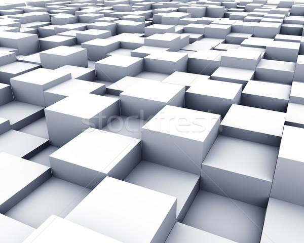 3D 白 キューブ 表面 観点 ビジネス ストックフォト © lenapix