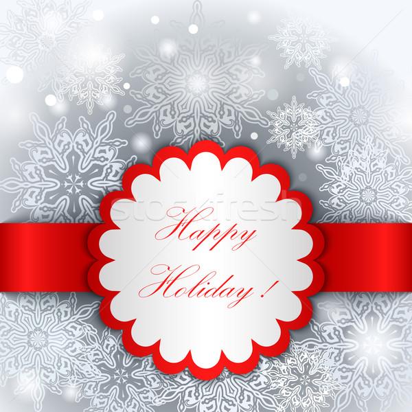 Christmas Happy Holiday tag vector template.  Stock photo © lenapix