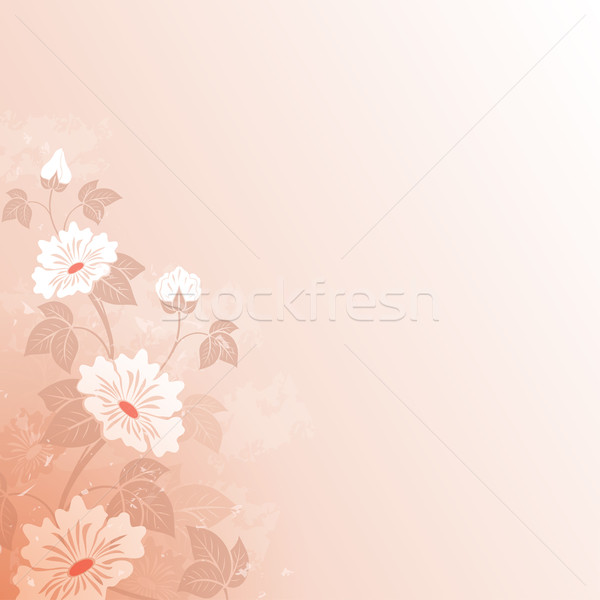 Abstract fiore vintage rosso copia spazio wedding Foto d'archivio © lenapix