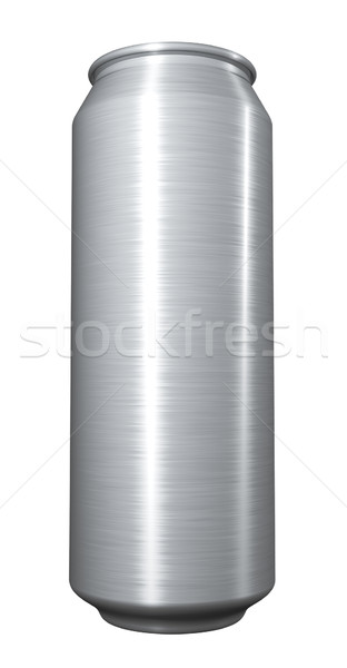 Blank beer can on white background. Stock photo © lenapix