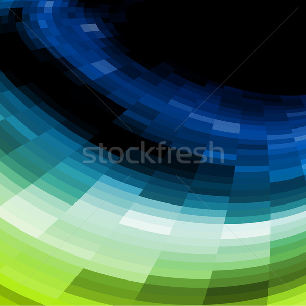 Blue and green vector mosaic background. Stock photo © lenapix