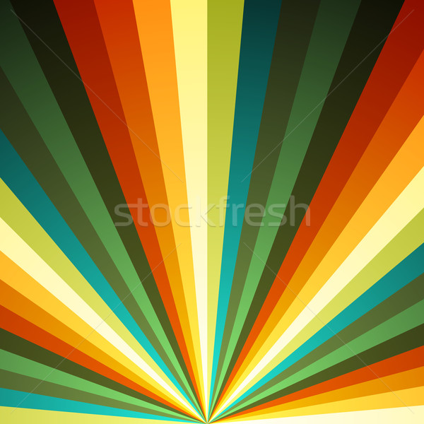Color radial rays vector background. Stock photo © lenapix