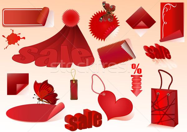 красный продажи вектора дизайна Элементы изолированный Сток-фото © lenapix