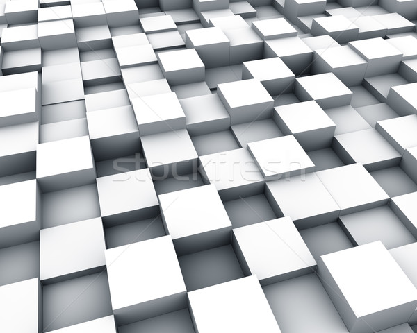 Multiple white cubes background Stock photo © lenapix