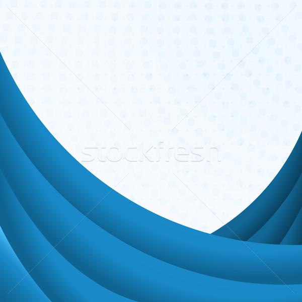 Kék hajlatok fehér copy space víz terv Stock fotó © lenapix