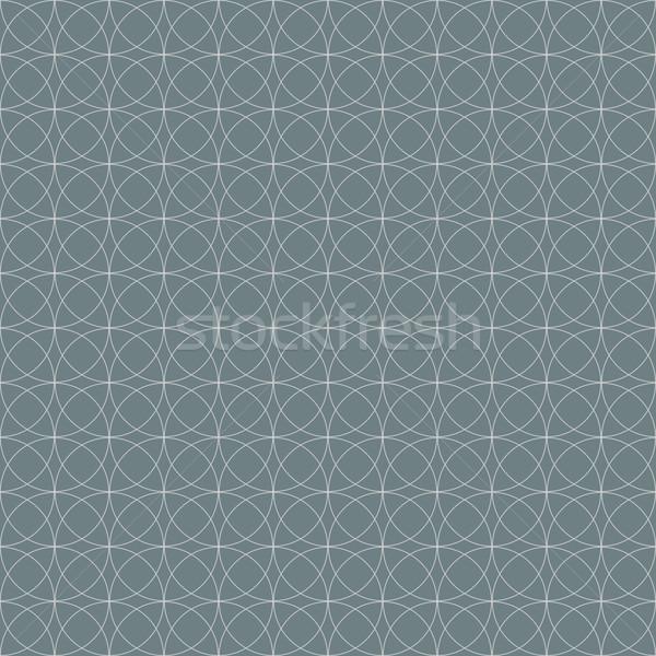 Szürke végtelenített mértani körök vektor tapéta Stock fotó © lenapix