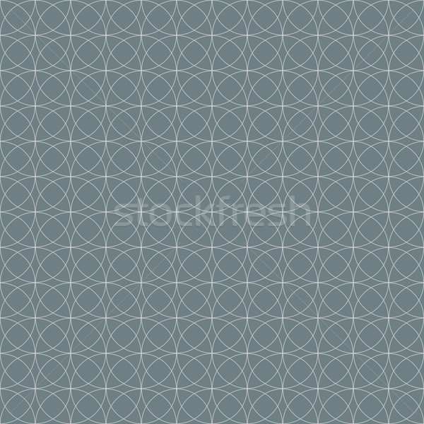 Grey seamless geometric circles vector wallpaper pattern. Stock photo © lenapix