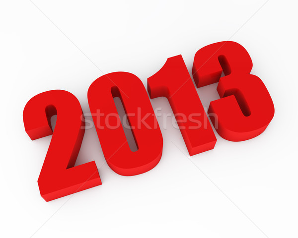 New 2013 year red figures rendering with shadow. Stock photo © lenapix